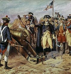 Siege of Yorktown- Revolutionary War Story. General Washington Fires the First Cannon for Victory
