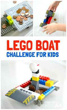 Boat Engineering Challenge for Kids - Kids STEAM Lab LEGO Boat Engineering Challenge for Kids - STEM challenge, which boat can hold more coins?LEGO Boat Engineering Challenge for Kids - STEM challenge, which boat can hold more coins? Lego Engineering, Engineering Projects, Stem Projects, Lego Projects, Projects For Kids, Engineering Challenges, Engineering Prints, Engineering Quotes, Reading Projects