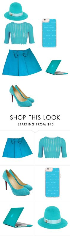 """""""sky"""" by zarchibald ❤ liked on Polyvore featuring M Missoni, Christian Louboutin, Casetify, Speck and Gucci"""