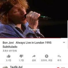 * 라울선생님의 추억의 팝송 번역 (Vol.14) (No. 273) 273. 항 상 (Always) - Bon Jovi This Romeo is bleeding 이 로미오가 피 흘리지만, but you can't see his blood 그댄 그의 피를 볼 수 없다오. It's nothin..