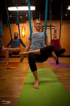 Kaya Wellness and Yoga offers antigravity yoga in their Aerial Yoga classes.