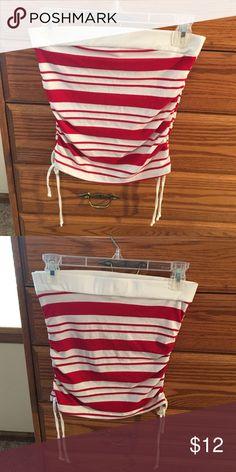 Red and white tube top Red and white tube top Can't Miss Tops