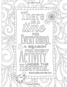 Inspiring Words 30 Verses From The Bible You Can Color Zondervan 9780310757283 Coloring PagesAdult