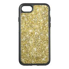 #gold - #Modern Gold Glitter Cool Otterbox iPhone 7 Case