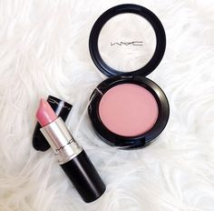 mac lipstick and blush