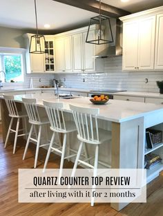 City Farmhouse - Living a Modern Country Life One Project at a Time Diy Wood Countertops, Quartz Kitchen Countertops, Kitchen Countertop Materials, Kitchen Cabinets, Kitchen Tops, New Kitchen, Kitchen Ideas, Farmhouse Style Kitchen, City Farmhouse
