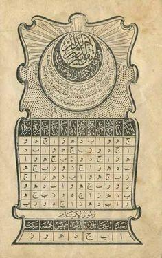 [Ottoman Empire] A Calendar, 1911 (Bir Osmanlı Takvim, Caligraphy, Calligraphy Art, Ottoman Turks, Shiva Art, Cultural Identity, Art Corner, Ottoman Empire, Ancient Civilizations, Empire