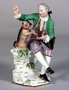 Gentleman with his pug, Meissen, ca. 1748