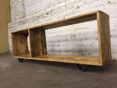 Modular reclaimed wood tv unit. Made to measure by MadeInTheCellar