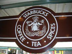 The first, original Starbucks! Pike Place Market, Seattle, WA. www.SeattleSouthside.com