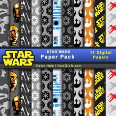 Click here to download a FREE Star Wars Digital Paper Pack!
