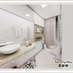 Lavabo Condomínio Área de Lazer. Autoria Itala Malta | Arquitetura - Conheça o Instagram @ItalaArquitetura.