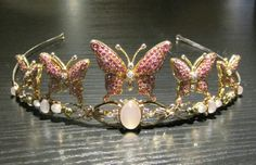 Butterfly tiara from an exhibition held at Amalienborg Palace in Copenhagen, 2009.