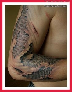 Torn Ripped Skin Tattoos Pictures Photos Pics Videos Ideas picture 13524