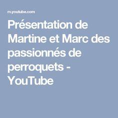 Présentation de Martine et Marc des passionnés de perroquets - YouTube