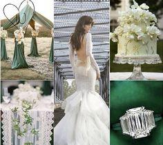 Smaragdgrüne Stoffe, zarte Spitze, edle Dekorationen & das gewisse Etwas - Wahnsinnig schönes Moodboard ❤️