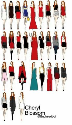 Every outfit worn by Cheryl Blossom on Riverdale Riverdale Funny, Riverdale Memes, Riverdale Cast, Cheryl Blossom Riverdale, Riverdale Cheryl, Betty Cooper, Zack Et Cody, Blossom Costumes, Cheryl Blossom Aesthetic