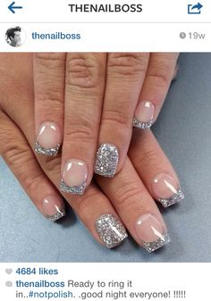 Totally doing this cute sparkly french