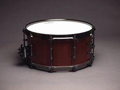 "Purple heart snare drum by JJ Savage, 7"" x 14"""
