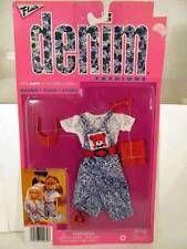 "Totsy Barbie & other 11-1/2"" Fashion Doll Flair DENIM Fashion Outfit #29930"