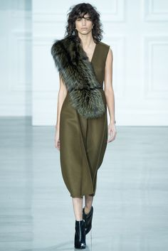 Aysymetrical Fur details : Jason Wu Fall 2015 Ready-to-Wear - Collection - Gallery - Style.com