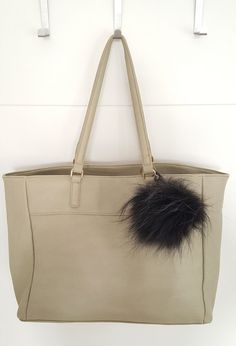 Black Fluffy real Fox Fur Pom Pom, very easy to attach onto purses, bags or even… Pom Pom Purse, Fur Pom Pom, Pom Poms, Fur Bag, Winter Accessories, Black Purses, Fox Fur, Michael Kors Jet Set, Gifts For Her