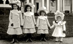 These poor little munchkins show an example of the excess that was just beginning to fade by the early 1900s.