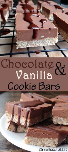 Chocolate & Vanilla Cookie Bars (Paleo, Vegan, Allergy-Free) @bobsredmill @enjoylifefoods