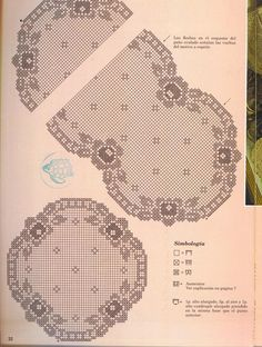 "Photo from album ""ааа Рукоделие"" on Yandex. Filet Crochet Charts, Crochet Diagram, Crochet Motif, Crochet Designs, Crochet Doilies, Crochet Table Runner, Crochet Tablecloth, Crochet Cord, Easter Crochet Patterns"