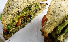 Eggplant Pesto Sandwich [Vegan, Gluten-Free] | One Green Planet