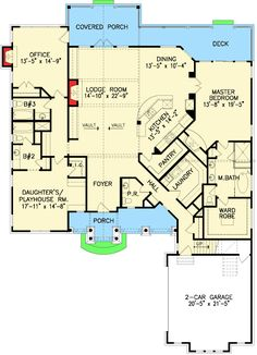—The Cherokee Cottage House Plans First Floor Plan – House Plans by Designs Direct.: —The Cherokee Cottage House Plans First Floor Plan – House Plans by Designs Direct. Craftsman Style House Plans, Cottage House Plans, Dream House Plans, Cottage Homes, House Floor Plans, My Dream Home, Dream Homes, Stone House Plans, The Plan