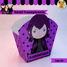 Hotel Transylvania - Mavis -  Caja Decorada Festa Hotel Transylvania, Dulceros Halloween, Ideas Para Fiestas, Ariel, Fathers Day, Minnie Mouse, Crafts For Kids, Disney Characters, Children