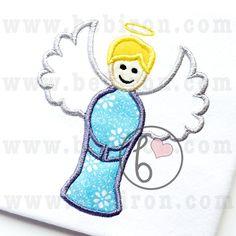 Angel Boy Applique Design Machine Embroidery by BebironApplique