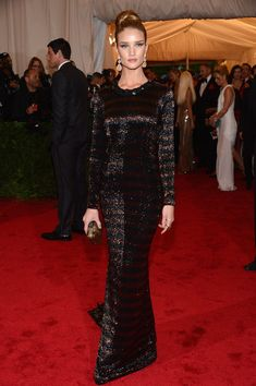 "Rosie Huntington-Whiteley - NY: ""Schiaparelli And Prada: Impossible Conversations"" Costume Institute Gala"