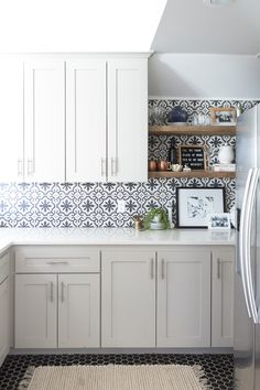 11 Kitchen Tile Backsplash Ideas for White Cabinets That Arent White White Kitchen Cabinets Arent Backsplash Cabinets Ideas Kitchen tile White White Cupboards, White Kitchen Cabinets, Metal Cabinets, Kitchen Cabinetry, Backsplashes With White Cabinets, Kitchen Backsplash White Cabinets, Diy Cabinets, New Kitchen, Kitchen Decor