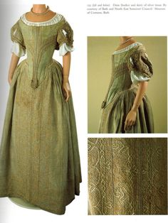 Dress of silver tissue, 1660s, Museum of Fashion, Bath (via the Dreamstress). I've seen this in real life, it's tiny!