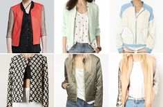 If fall was all about the varsity jackets, spring is all about the bomber. And it's gotten a serious makeover. Cool Bomber Jackets, Varsity Jackets, Duster Coat, Meet, Denim, Dressing Room, Lady, My Style, Spring