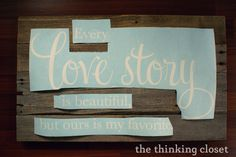 Wood Pallet Sign Tutorial — the thinking closet