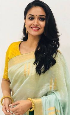 Keerthi Suresh south indian tollywood actress from TV serials and movies having hot plus size body showing their intimate juicy and curvy se. Beautiful Girl Indian, Most Beautiful Indian Actress, Beautiful Saree, Beautiful Bollywood Actress, Beautiful Actresses, Indian Beauty Saree, Indian Sarees, Beauty Full Girl, South Indian Actress
