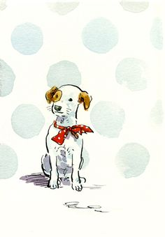 Claire Fletcher scrappy dog illustration