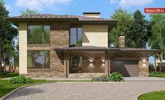 Проект дома C-214M - Проекты домов и коттеджей в Москве House Construction Plan, Pergola, Exterior, Outdoor Structures, House Design, How To Plan, Outdoor Pergola, Outdoor Rooms, Architecture Design