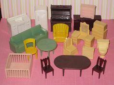 Vintage 1950s MARX Hard Plastic Miniature by IngridsVintageDolls