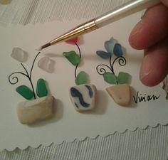 Creating Sea Glass Art by Vivian