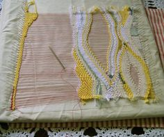 Pin Weaving - Using simple Pins and Wool Rests to create abstract Weavings