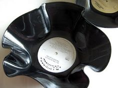 melt records into bowls
