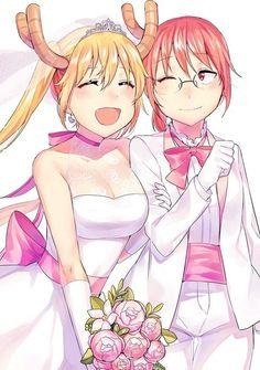 Tohru and Kobayashi from Miss kobayashis dragon maid