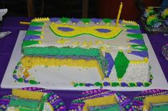 Inside of Mardi gras cake #Pin By:Pinterest++ for iPad#
