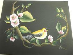 Donna Dewberry One Stroke Bird on a branch
