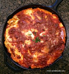 Lasagna has always been known as a classic comfort food with layered rich tomato sauce, thick lasagna noodles and a whole lot of cheese. This particular skillet Elk Meat Recipes, Wild Game Recipes, Venison Recipes, Cooking Recipes, Deer Recipes, Cooking Rice, Cooking Salmon, Fish Recipes, Ground Elk Recipes