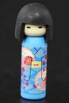 Camellia Kimono Kokeshi Doll Eraser